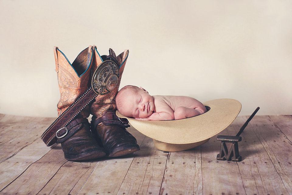 Jupiter florida western country style newborn photography