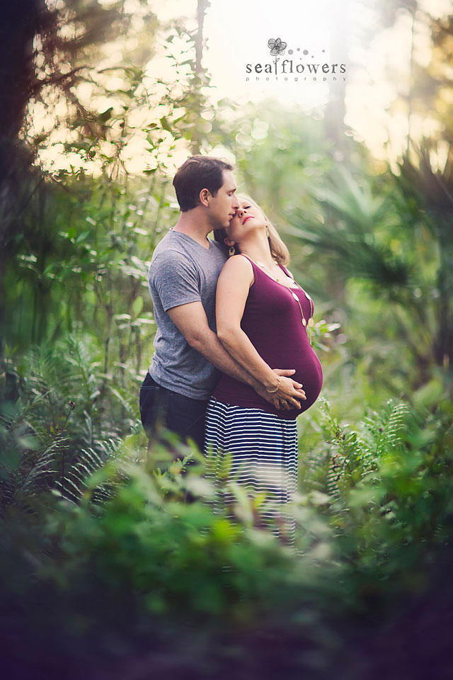 Jupiter Palm Beach Florida Maternity Photography - Sea Flowers Photography Woods