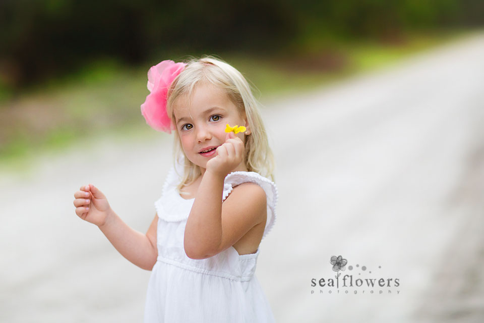 Jupiter Palm Beach Florida Child and Family Woods Photography Photo Shoot - Sea Flowers Photography
