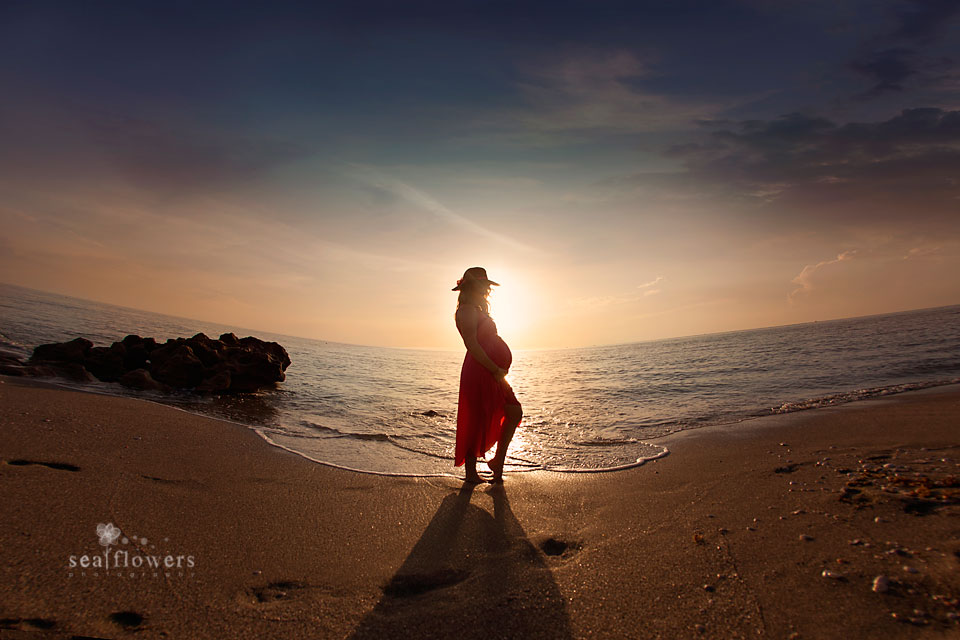 Jupiter Palm Beach Maternity Beach Photography