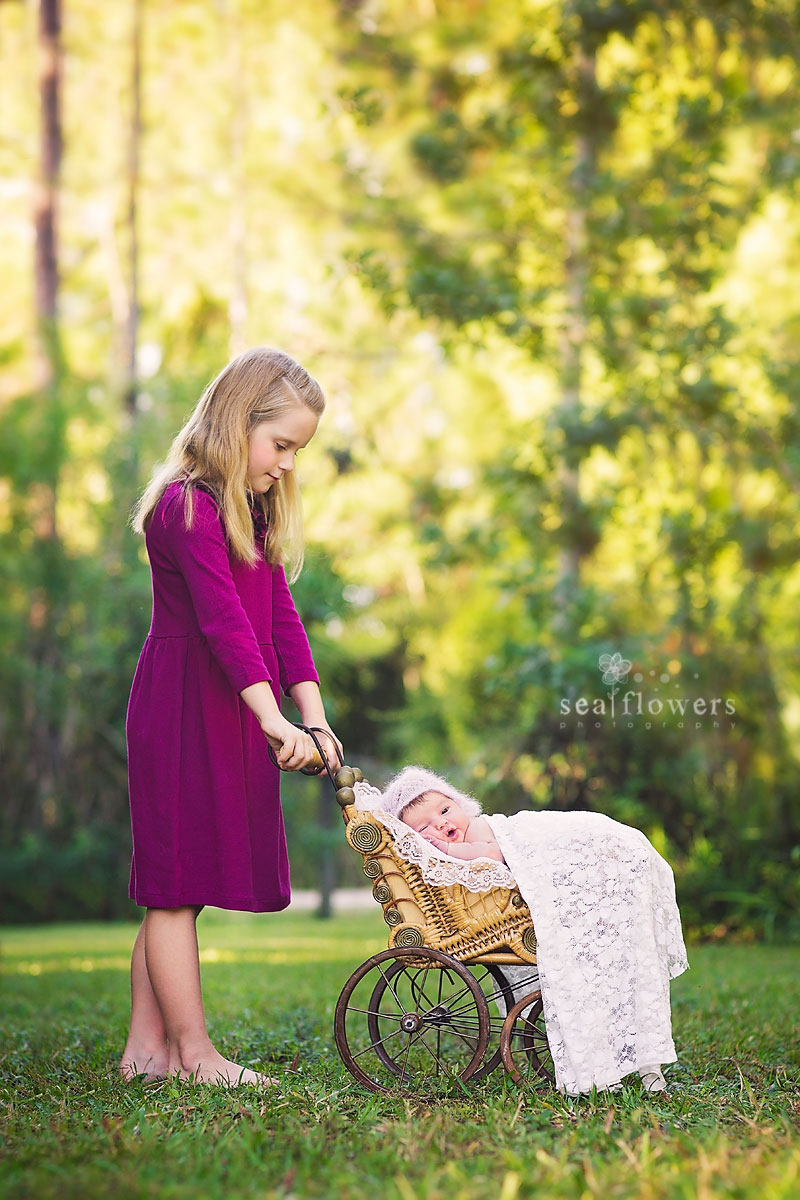 Jupiter Florida Sibling Newborn Photography - Sea Flowers Photography
