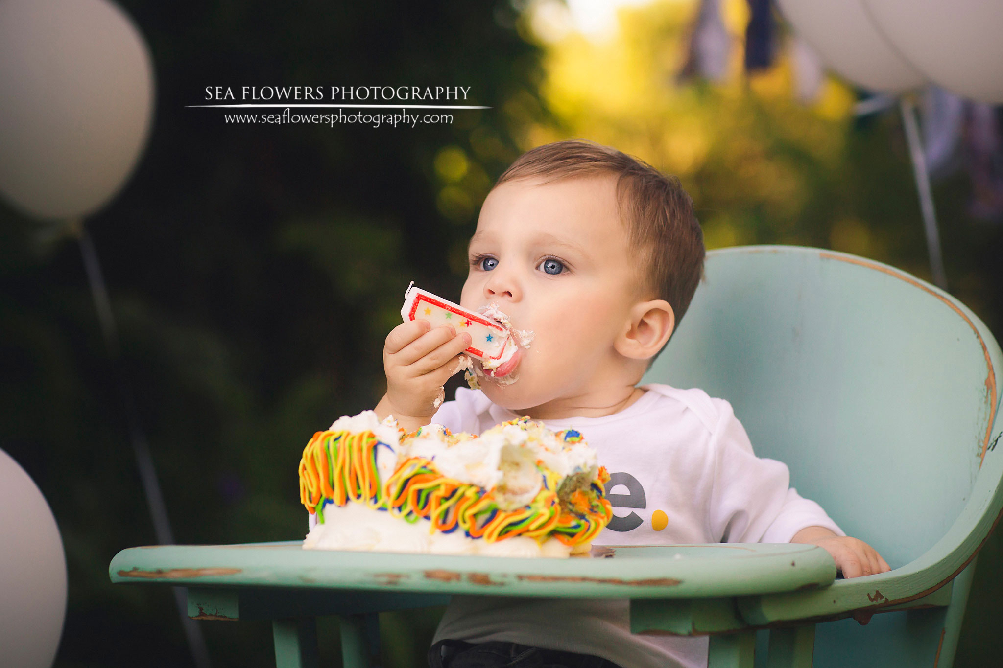 Jupiter Florida Cake Smash First Birtday and Family Session - Sea Flowers Photography