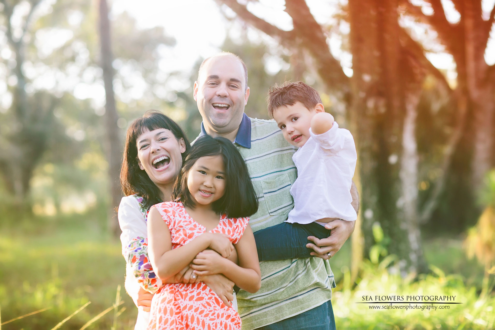 Jupiter Florida Sunrise Child and Family Photography Natural Light Woods - Sea Flowers Photography