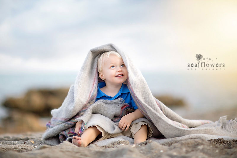 Jupiter Florida Beach Photography Children and Families - Sea Flowers Photography