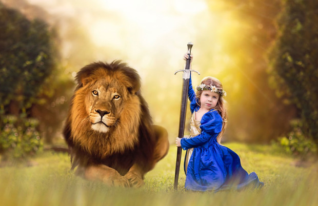 Chronicles of Narnia Lion Witch Wardrobe Jupiter Florida Fantasy Photography Sea flowers Photography