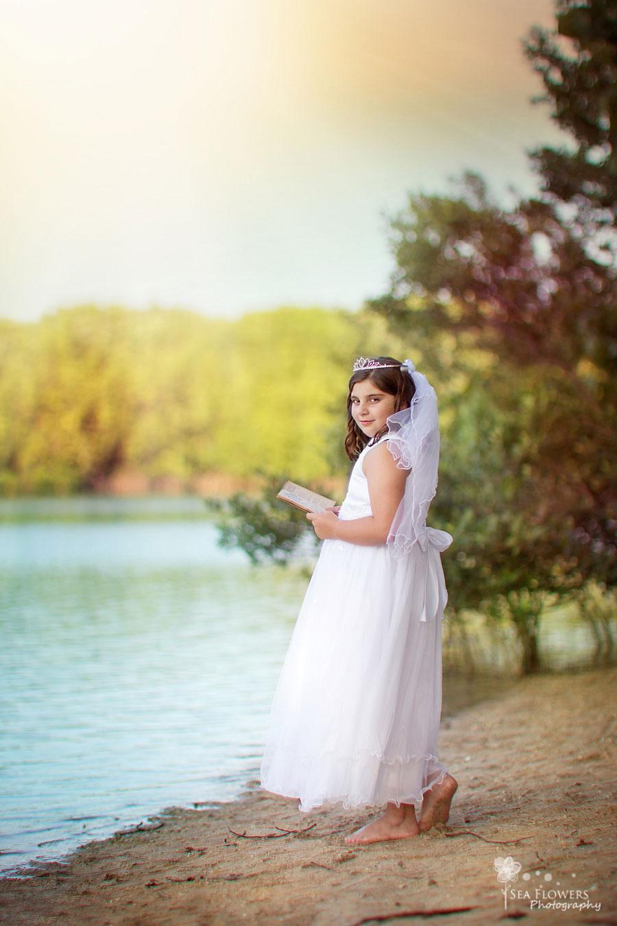 First Communion - Jupiter Beach Photography - Sea Flowres Photography Children Family Photography