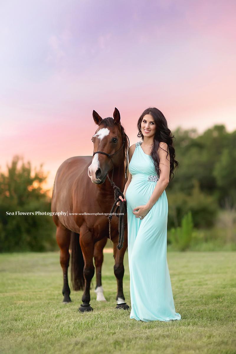 Sea Flowers Photography Jupiter Florida Maternity Photography - Horse Photography - Palm Beach Maternity Photographer