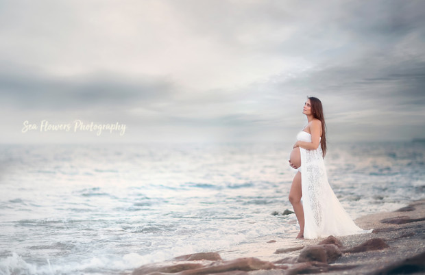 Jupiter Beach Maternity Photographer - Sea Flowers Photography