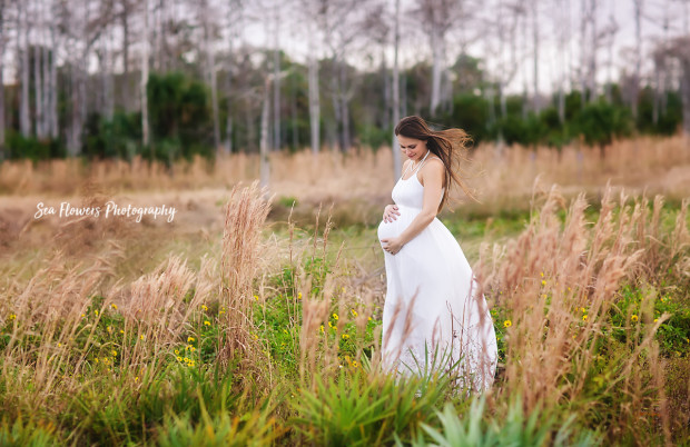 Jupiter Farms Maternity Photographer - River Bend Park - Sea Flowers Photography