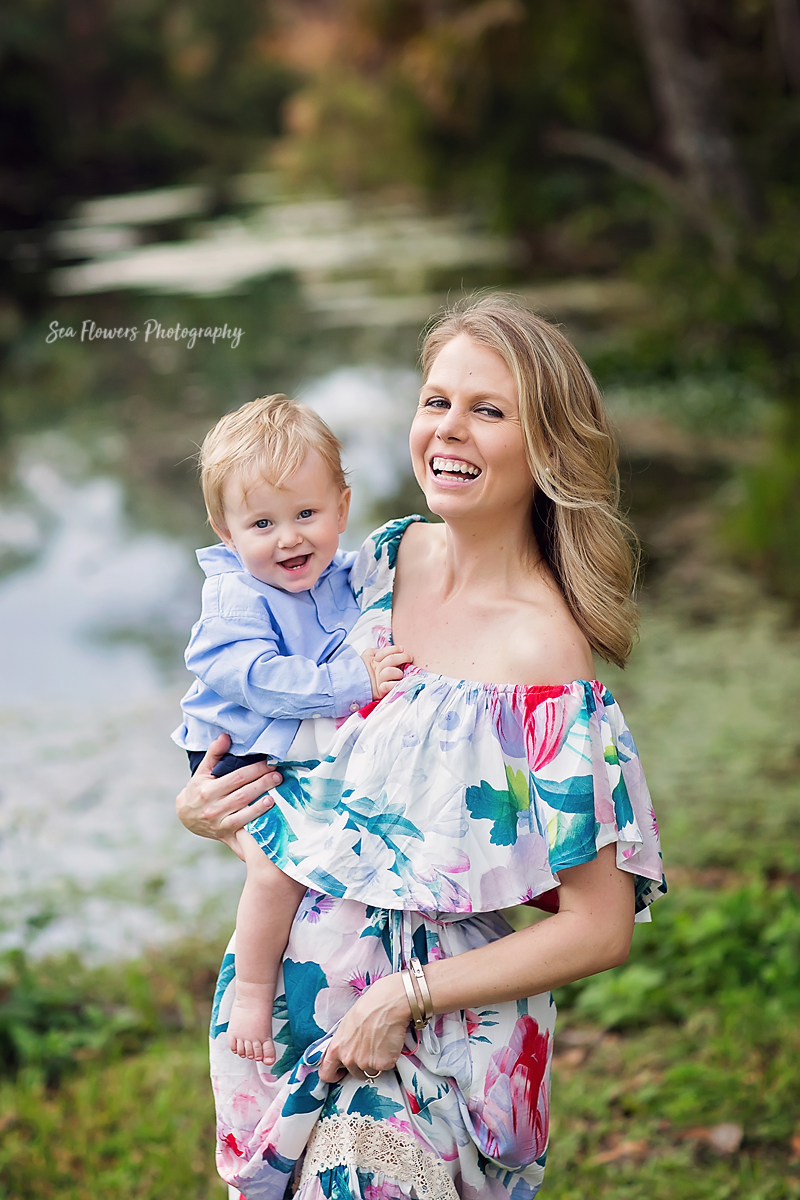Jupiter Florida Family Photographer - Riverbend park one year birthday session - Sea Flowers Photography