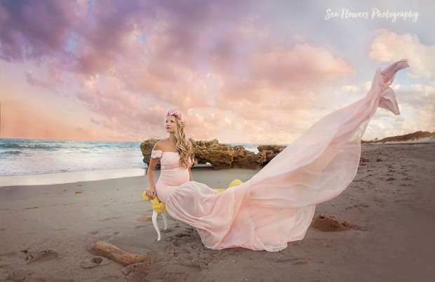 Jupiter Dubois Beach Maternity Photographer - Sea Flowers Photography